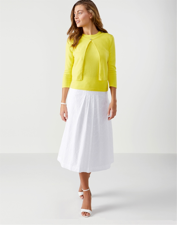Broderie Anglaise Pleat Skirt