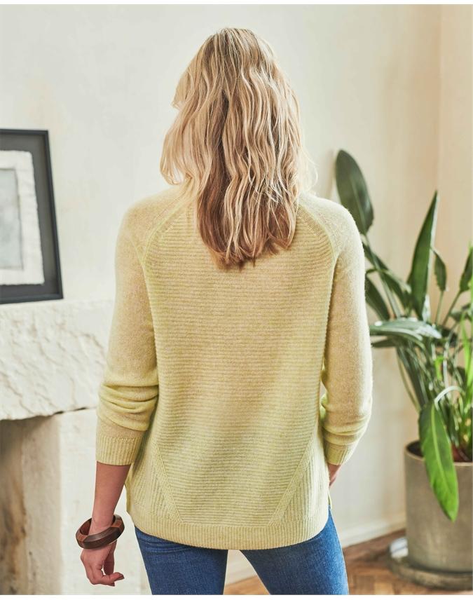 Organic Cashmere Soft Textured Sweater