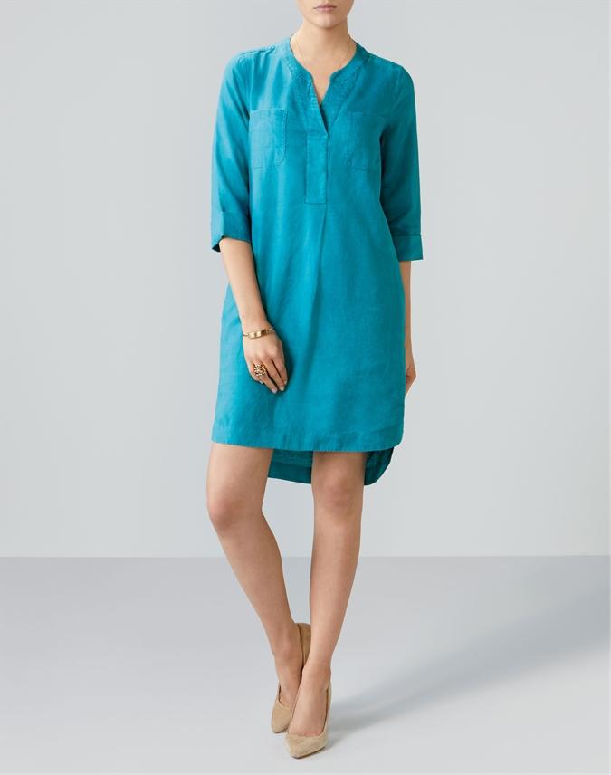 Linen Pocketed Dress