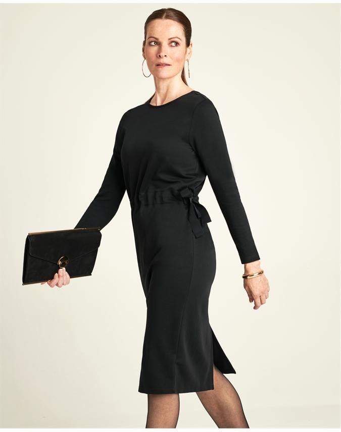 Heavy Jersey V Back Dress
