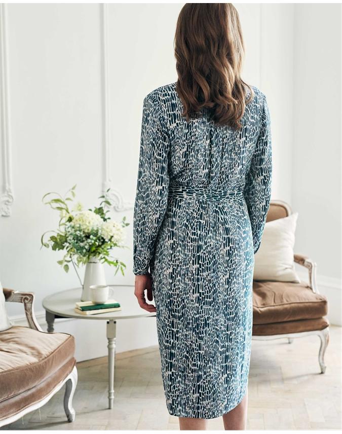 Printed Notch Neck Dress
