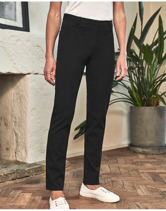 Cotton Stretch Straight Leg Jean