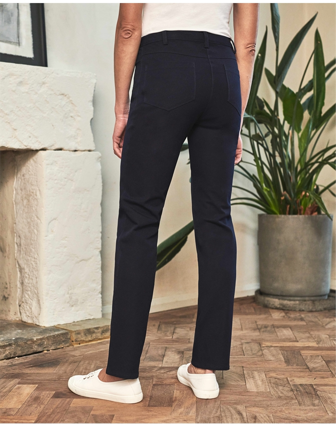 Cotton Stretch Straight Leg Jean
