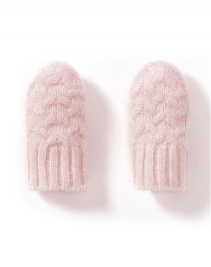 Cashmere Baby Cable Mitt