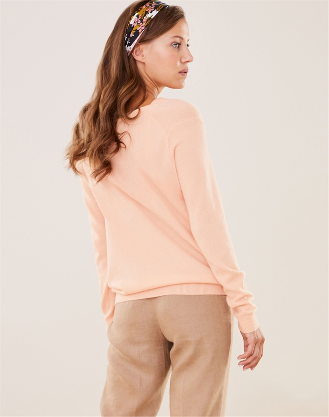 Cashmere Boyfriend Drape Neck Sweater