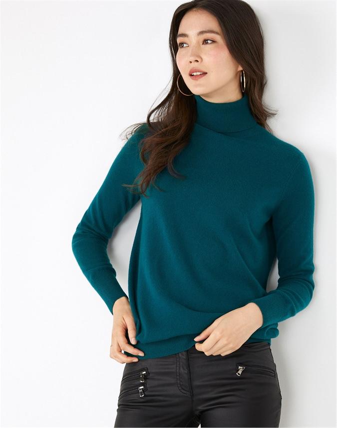 Cashmere Boyfriend Turtle Neck Sweater