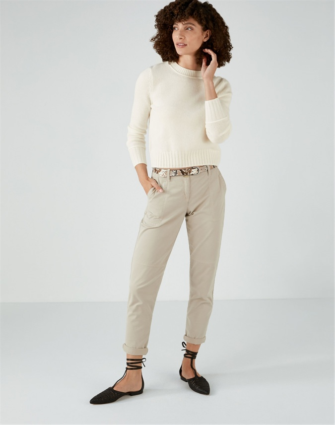 Cashmere Lofty Cropped Sweater
