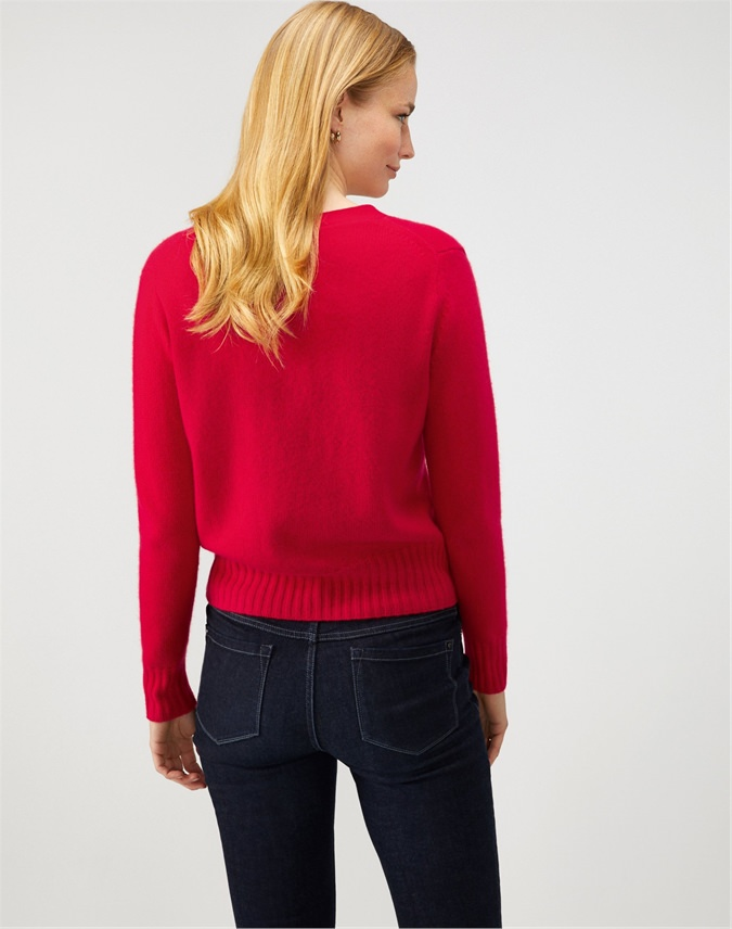 Cashmere Lofty V-Neck Cardigan