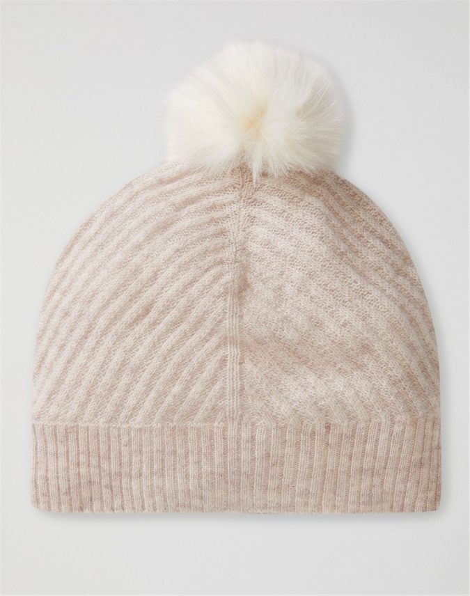 Cashmere Ribbed Hat