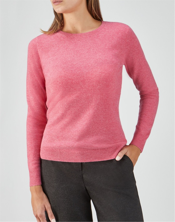 Cashmere Slim Fit Crew Neck Sweater