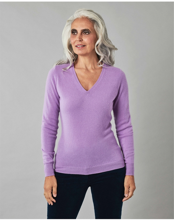 Cashmere Slim Fit V Neck Sweater