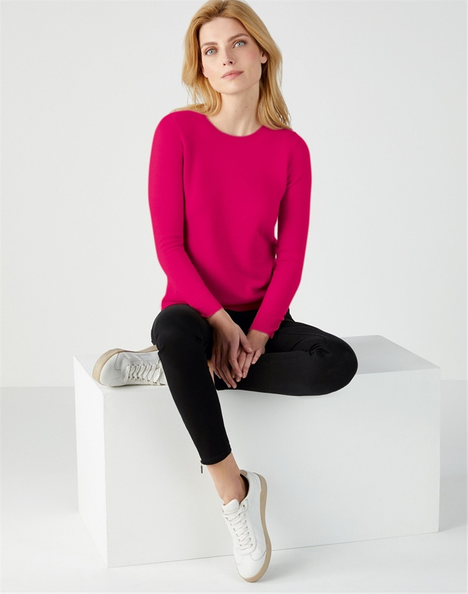 Cashmere Straight Fit Crew Neck Sweater