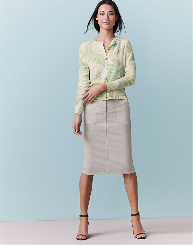 Chino Pencil Skirt