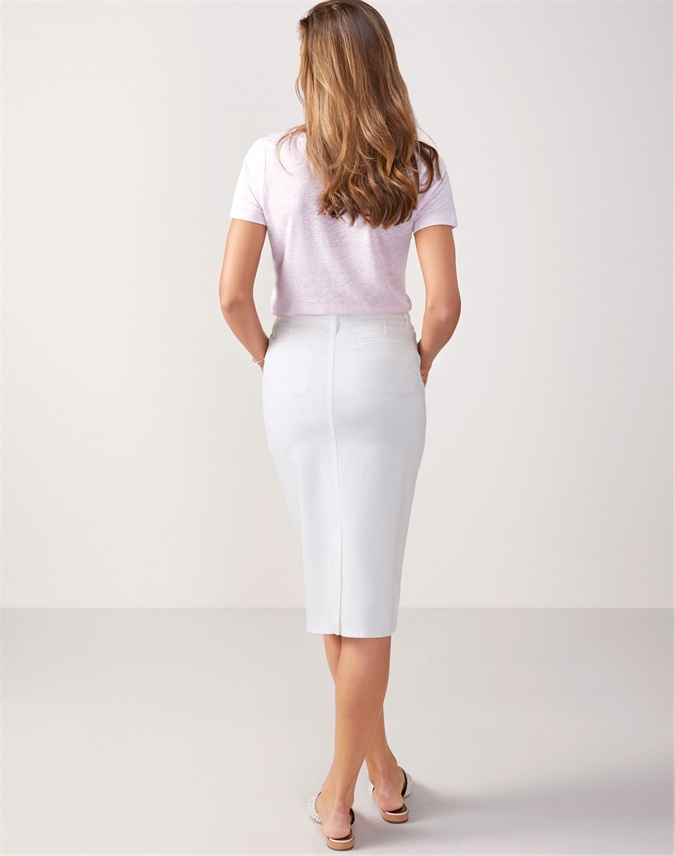 Chino Pencil Skirt