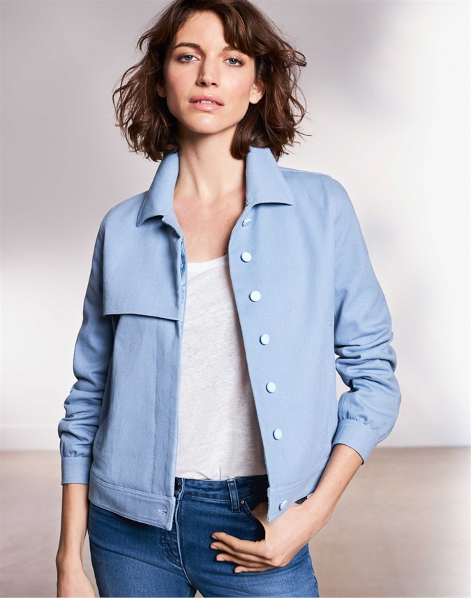 Collared Twill Jacket