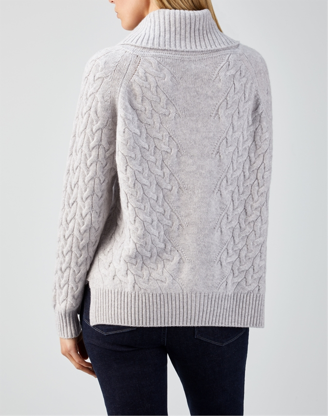 Cashmere Luxe Cable Sweater