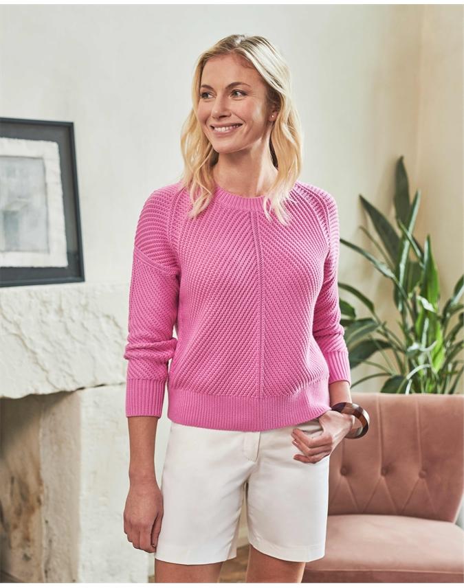 Cotton Chunky Textured Stitch Sweater