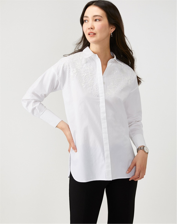 Cotton Embellished Shirt