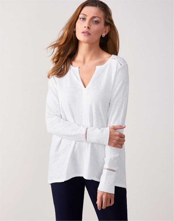 Cotton Open Ladderwork Top