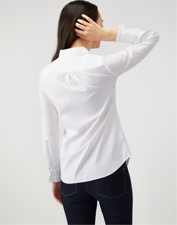 Cotton Ruffle Trim Shirt