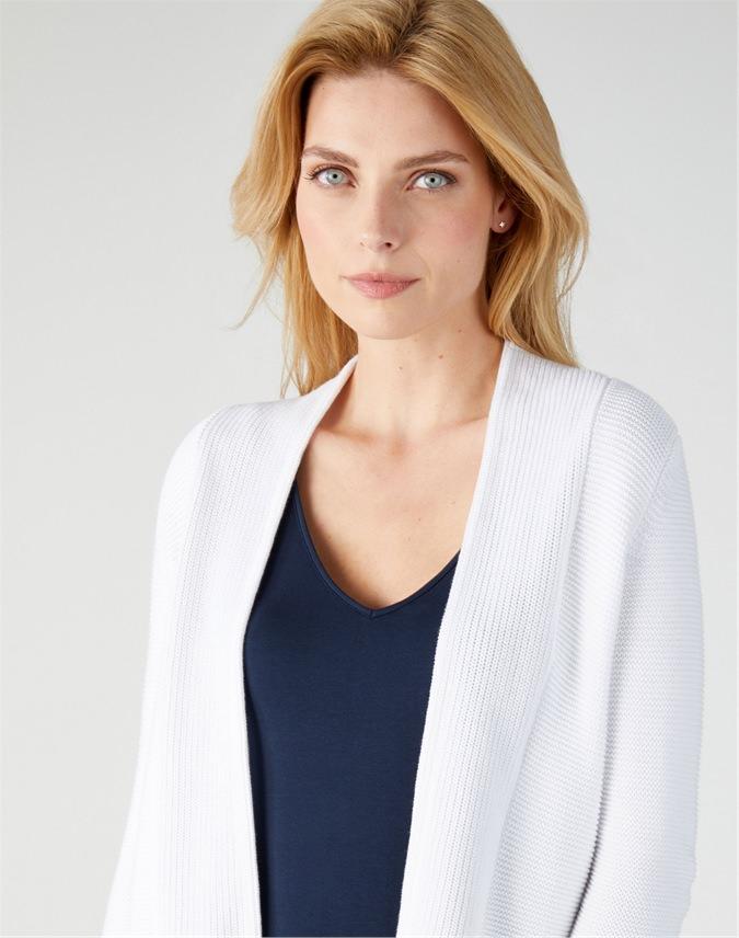 Cotton Textured Cardigan