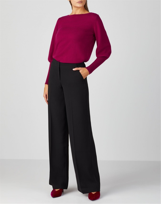 Drapey Wide Leg Trouser
