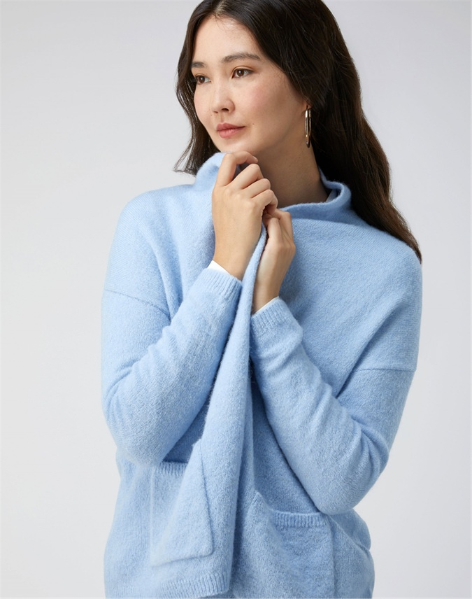 Open Brushed Cardigan