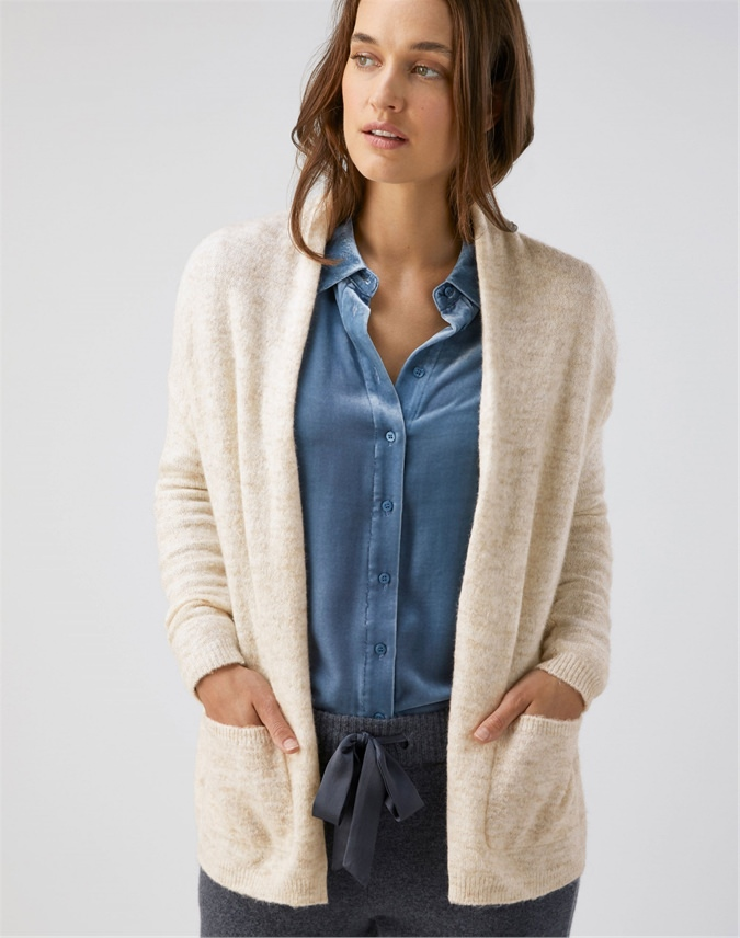 Edge To Edge Brushed Cardigan