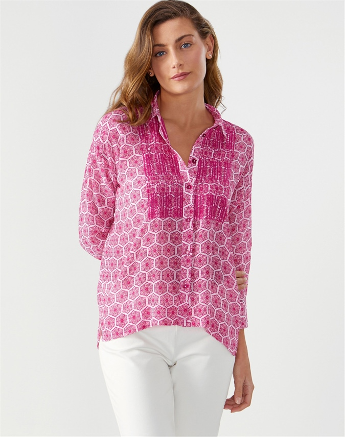 Embroidered Printed Blouse