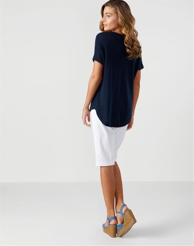 Gassato Curved Hem T-Shirt