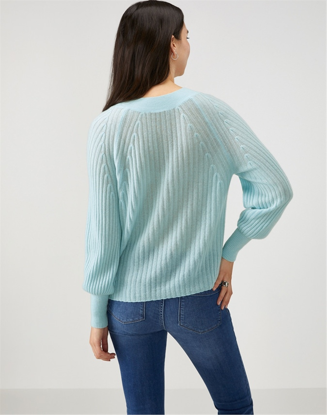 Gassato Ribbed Boat Neck Sweater