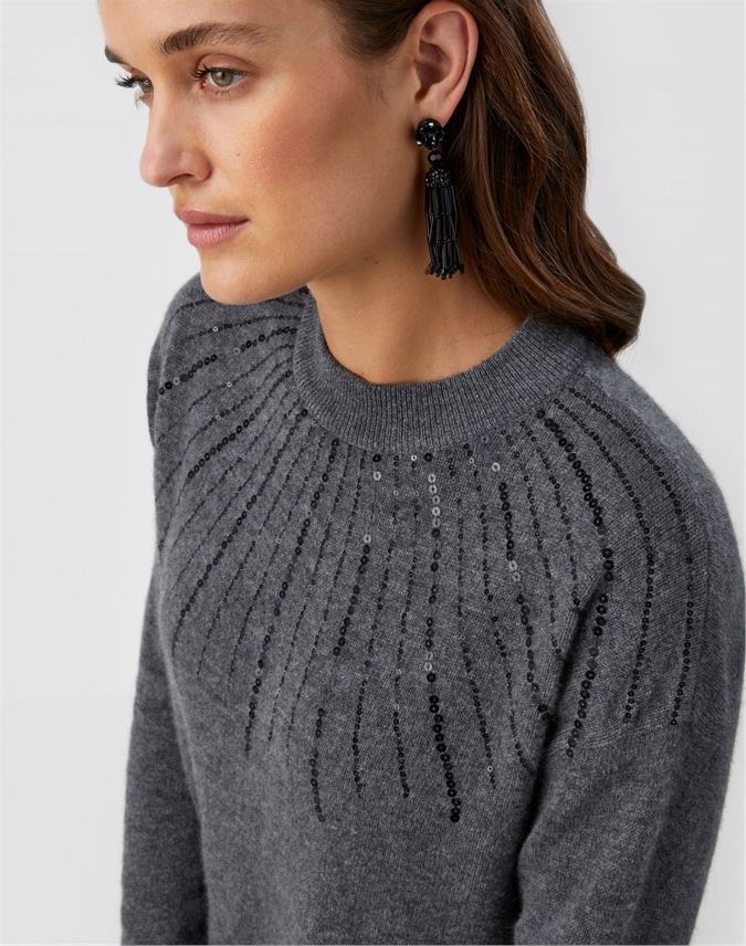 Gassato Sequin Yoke Sweater