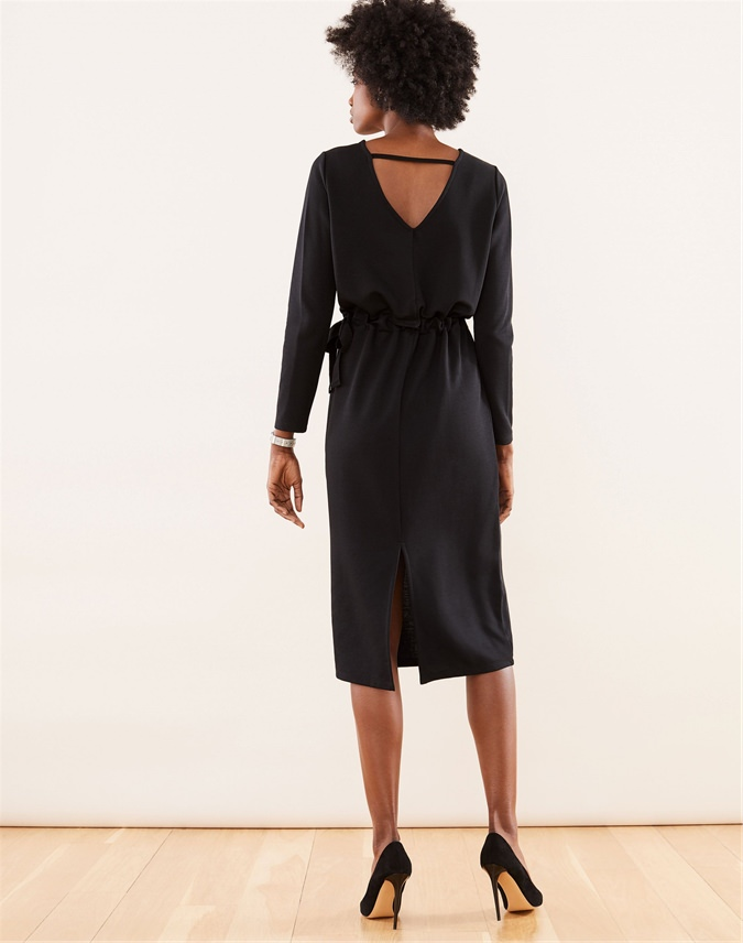 Heavy Jersey V Back Dress