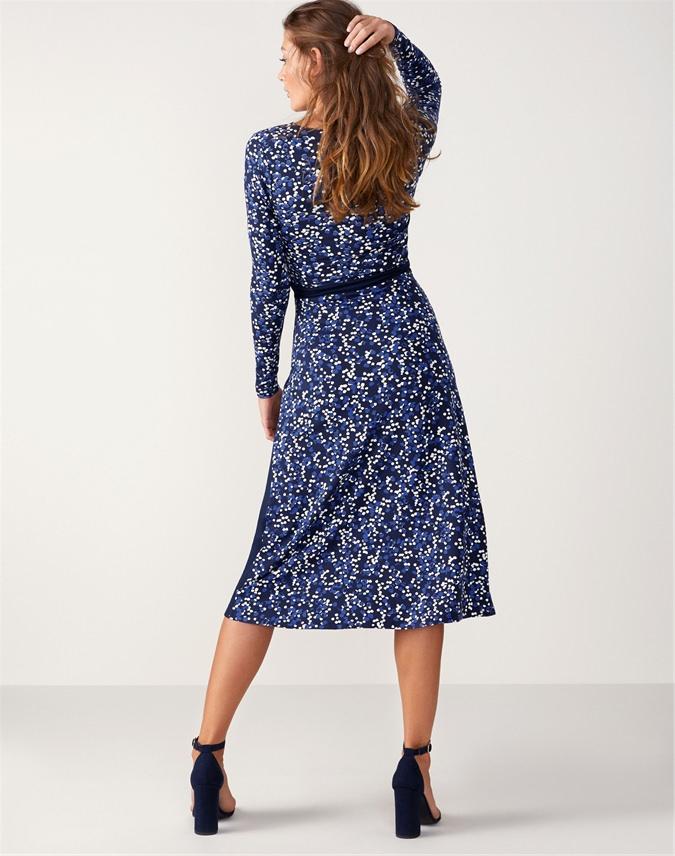 Jersey Midi Wrap Dress