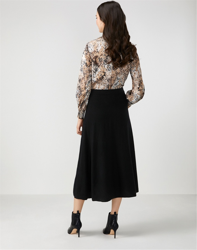 Knitted Fit And Flare Skirt