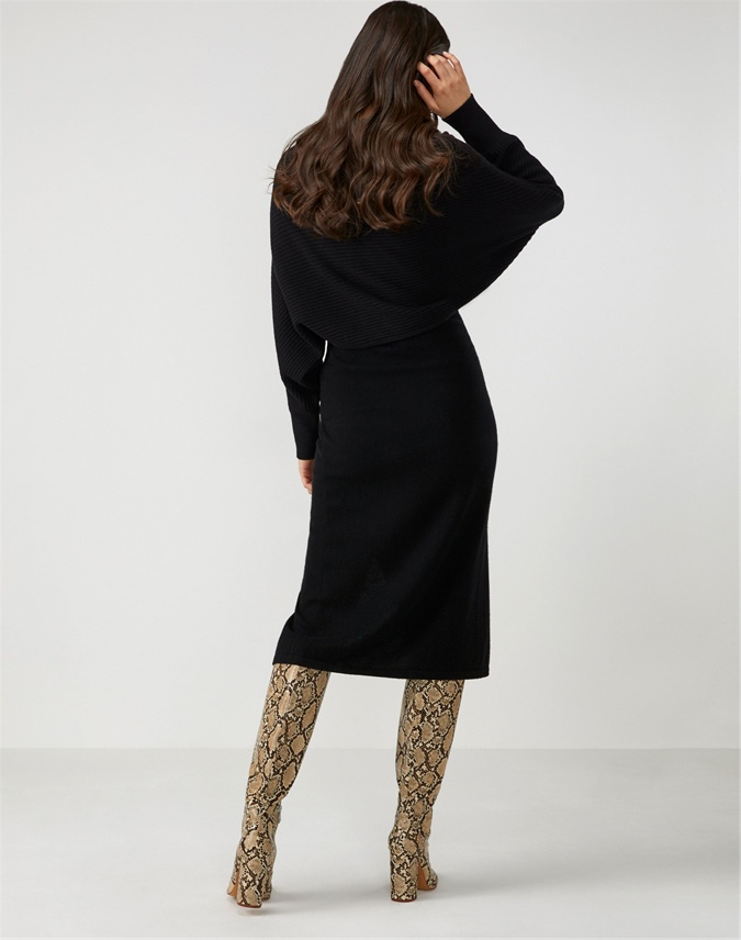 Knitted Wrap Pencil Skirt