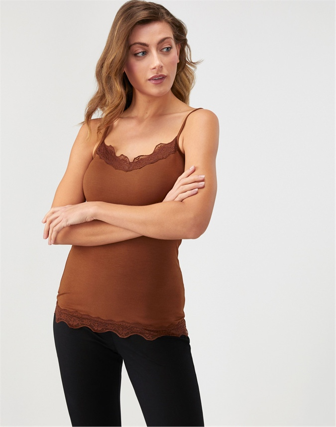 Lace Jersey Camisole