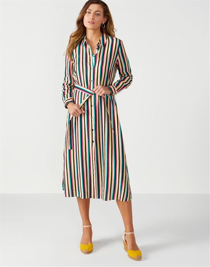 Laundered Linen Shirt Dress
