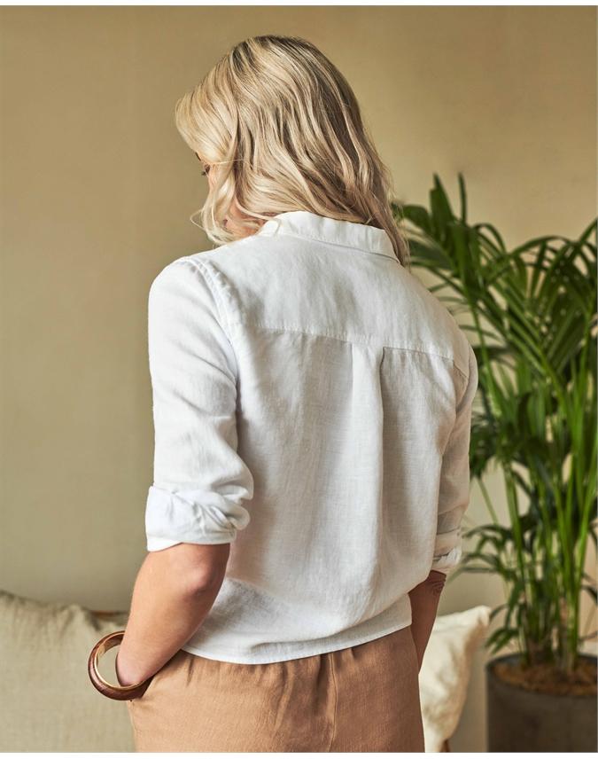 Linen Tie Hem Shirt