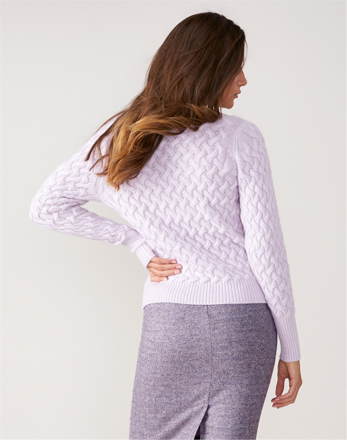 Lofty Cable Sweater