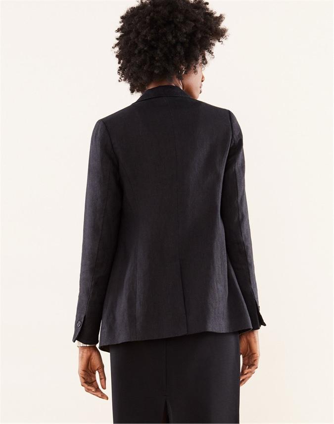 Longline Linen Blazer