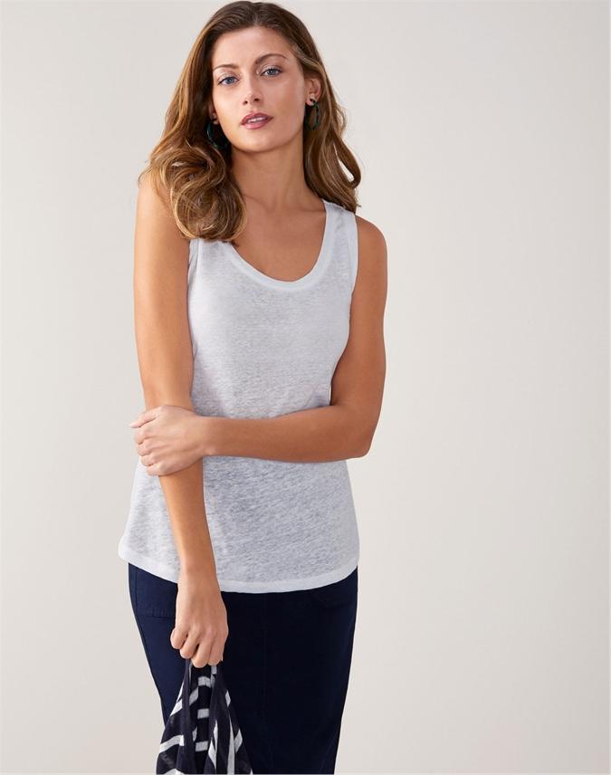 Luxury Linen Jersey Vest
