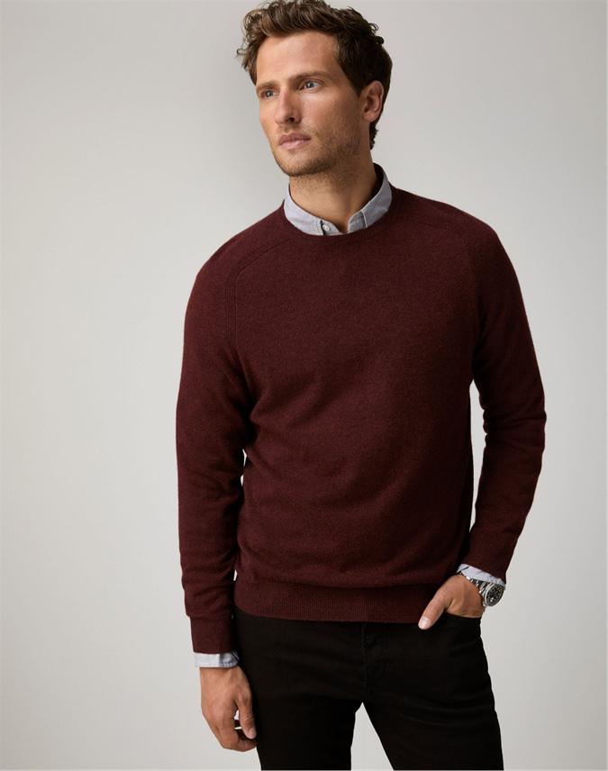 Mens Cashmere Crew Neck Sweater