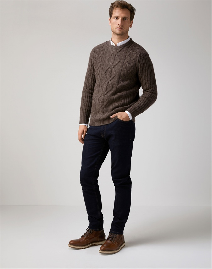 Mens Cashmere Luxury Cable Sweater