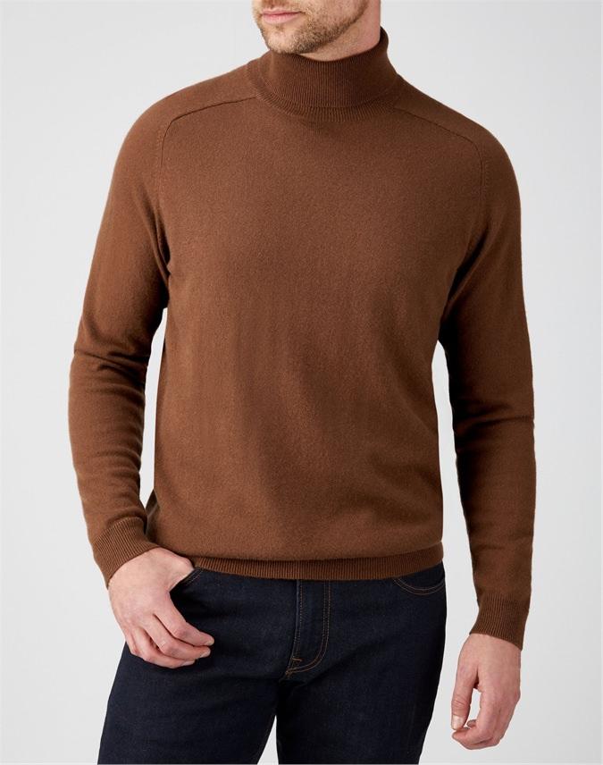 Mens Cashmere Polo Neck Sweater