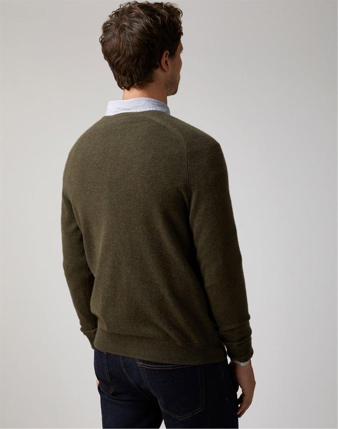 Mens Cashmere V Neck Sweater
