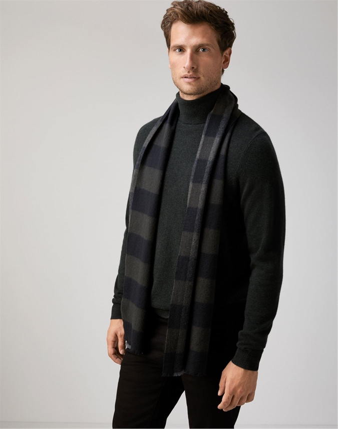 Mens Cashmere Woven Scarf