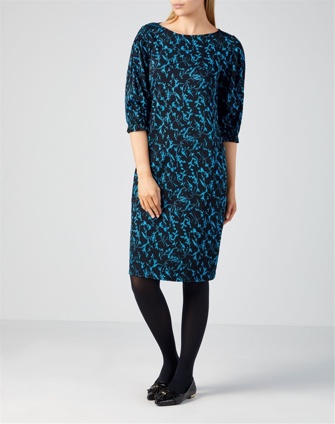 Pintuck Sleeve Dress