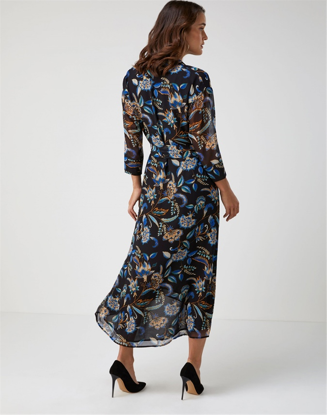 Printed Collared Dress