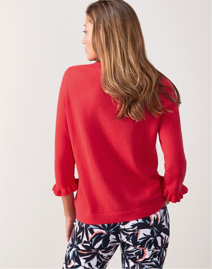 Ruffle Cuff Sweater
